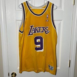 L.A. Lakers Nick Van Exel Champion Jersey Sz 48/XL